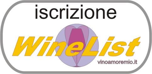 Iscrizione Wine List