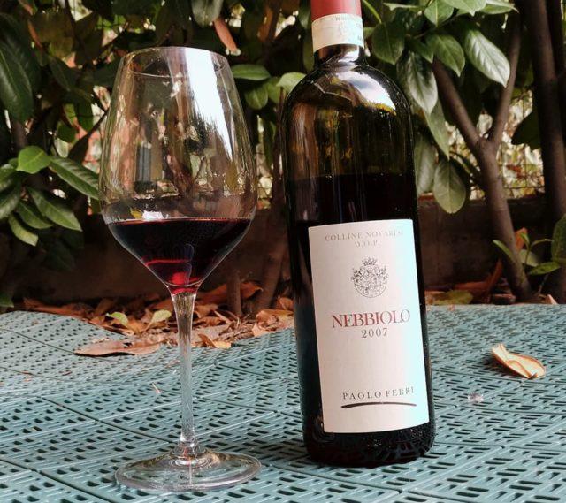 Il buonumore vien bevendo. Nebbiolo 2007 Colli Novaresi Paolo Ferri