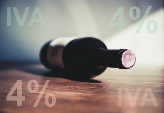 Il vino è un alimento, IVA al 4%